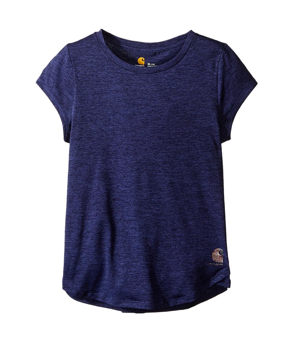 Carhartt Kids - Force Tee (Big Kids) (Deep Cobalt Heather) Girl's Short Sleeve Pullover