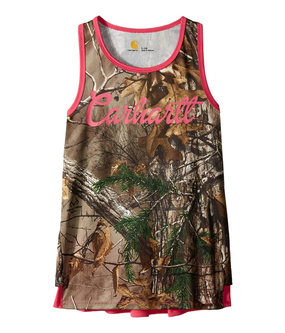 Carhartt Kids - Force Camo Ruffle Tank Top (Big Kids) (Realtree Xtra) Girl's Sleeveless