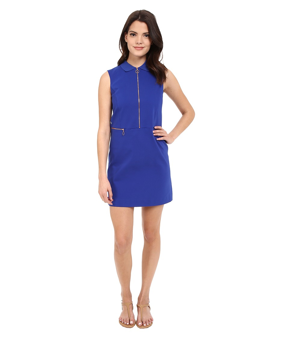 Lacoste - L!ve Sleeveless Zip Front Collar Dress (Royal Blue) Women's Dress