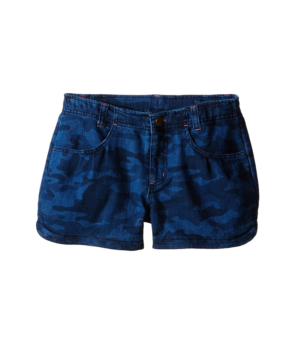 Carhartt Kids - Denim Camo Shorts (Big Kids) (Denim Camo) Girl's Shorts