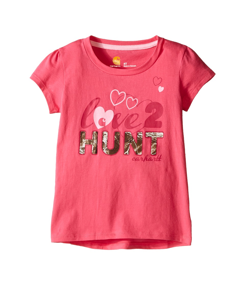 Carhartt Kids - Love to Hunt Tee (Toddler) (Fandango Pink) Girl's Short Sleeve Pullover
