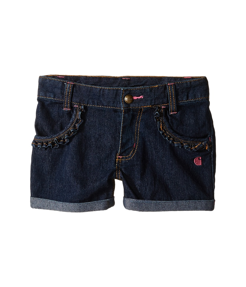 Carhartt Kids - Rolled Cuff Denim Shorts (Toddler) (Classic Wash) Girl's Shorts