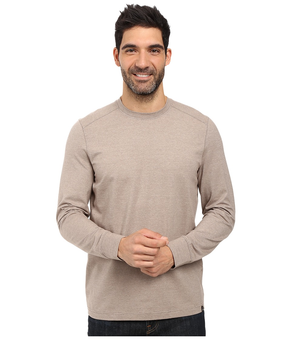 Prana - Decco Crew (Mud) Men's Long Sleeve Pullover