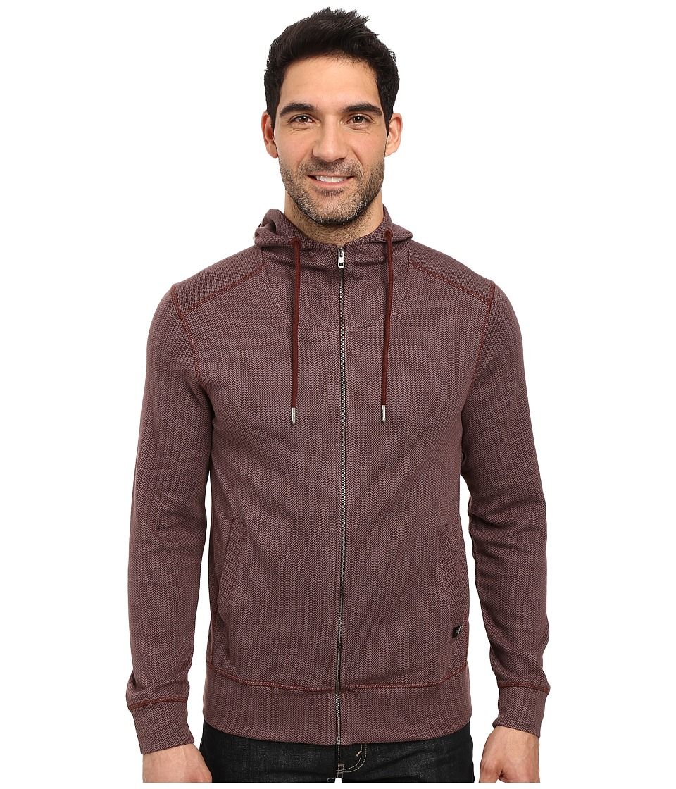 Prana - Hough Full Zip (Dark Umber) Men's Sweatshirt
