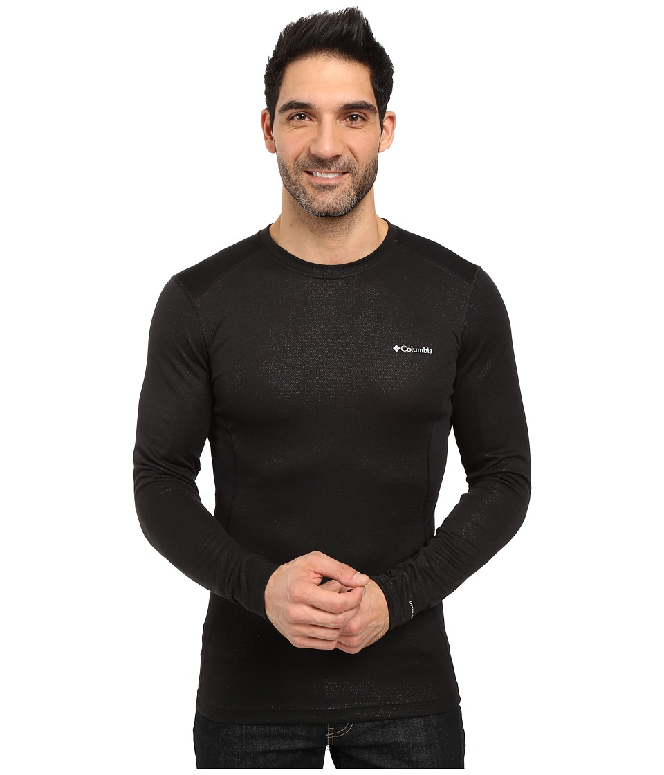 Columbia - Midweight Mesh Long Sleeve Top (Black) Men's Long Sleeve Pullover