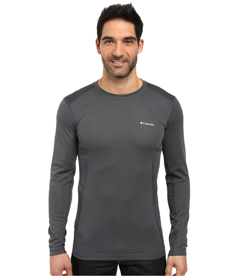 Columbia - Midweight Mesh Long Sleeve Top (Graphite) Men's Long Sleeve Pullover