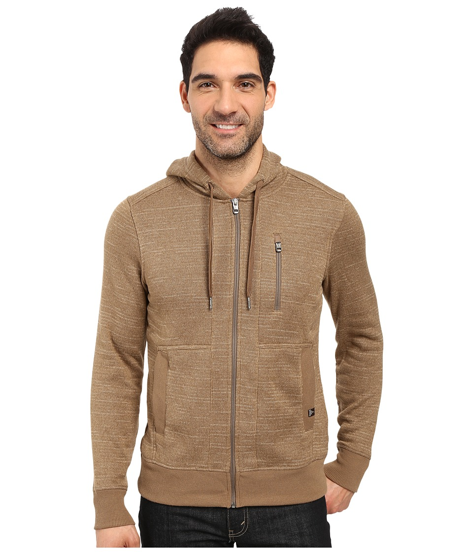 Prana - Performance Fleece Zip Hoodie (Dark Khaki) Men's Sweatshirt