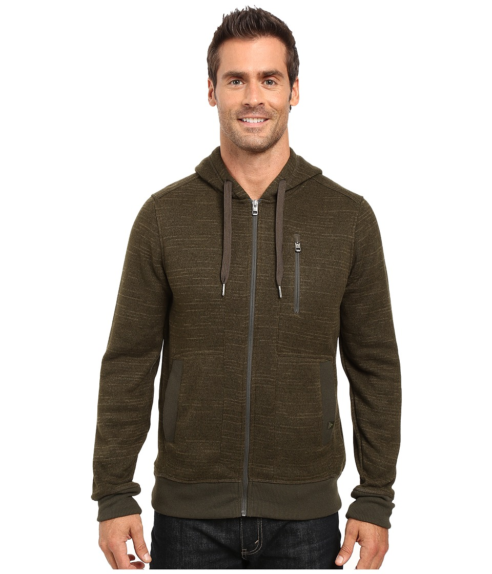 Prana - Performance Fleece Zip Hoodie (Dark Olive) Men's Sweatshirt