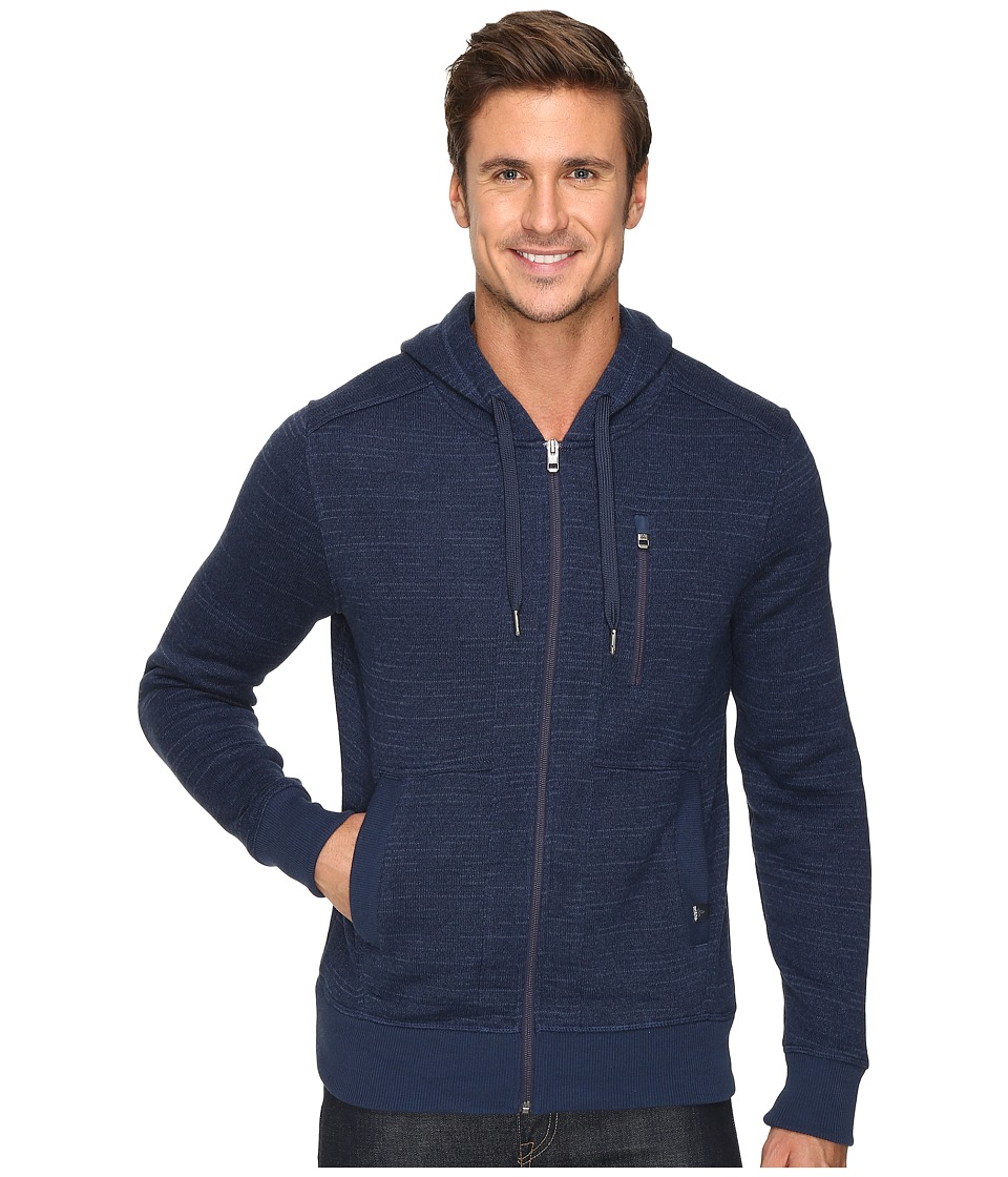 Prana - Performance Fleece Zip Hoodie (Dress Blue) Men's Sweatshirt