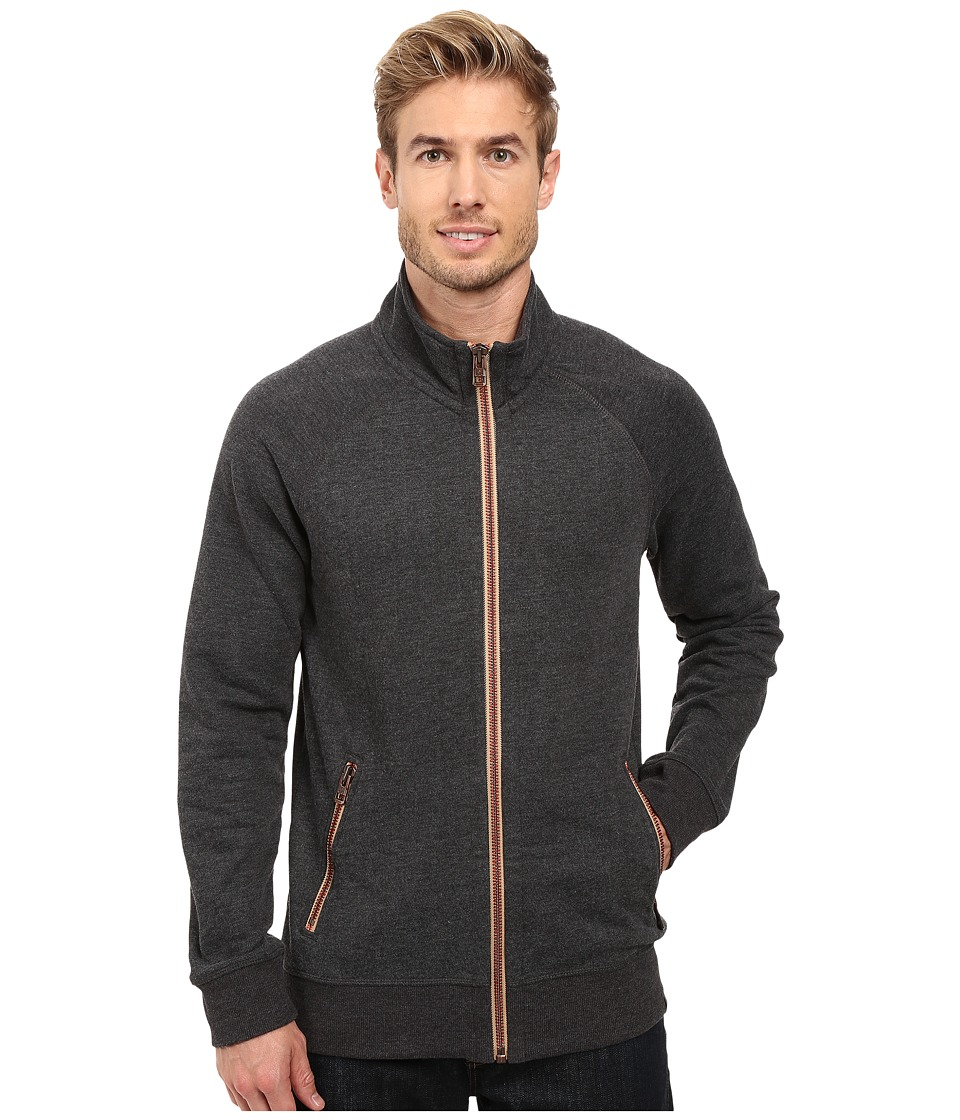 Prana - Lifetime Full Zip Mock (Black) Men's Sweatshirt