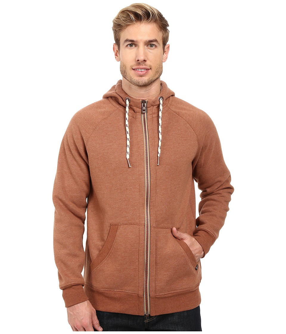 Prana - Lifetime Full Zip Sherpa Hoodie (Auburn) Men's Sweatshirt