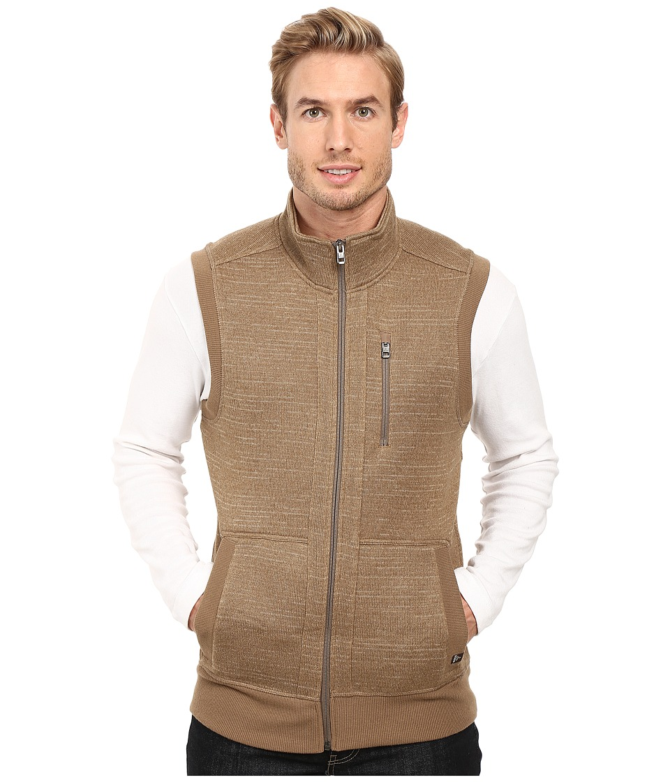 Prana - Performance Fleece Vest (Dark Khaki) Men's Vest