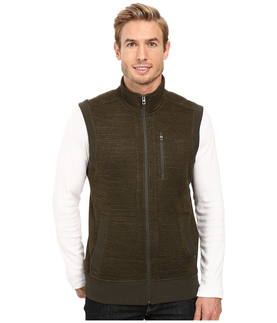Prana - Performance Fleece Vest (Dark Olive) Men's Vest