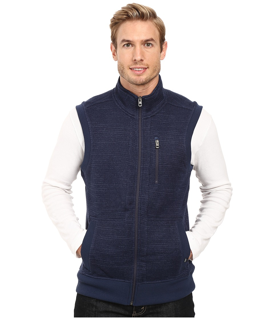 Prana - Performance Fleece Vest (Dress Blue) Men's Vest