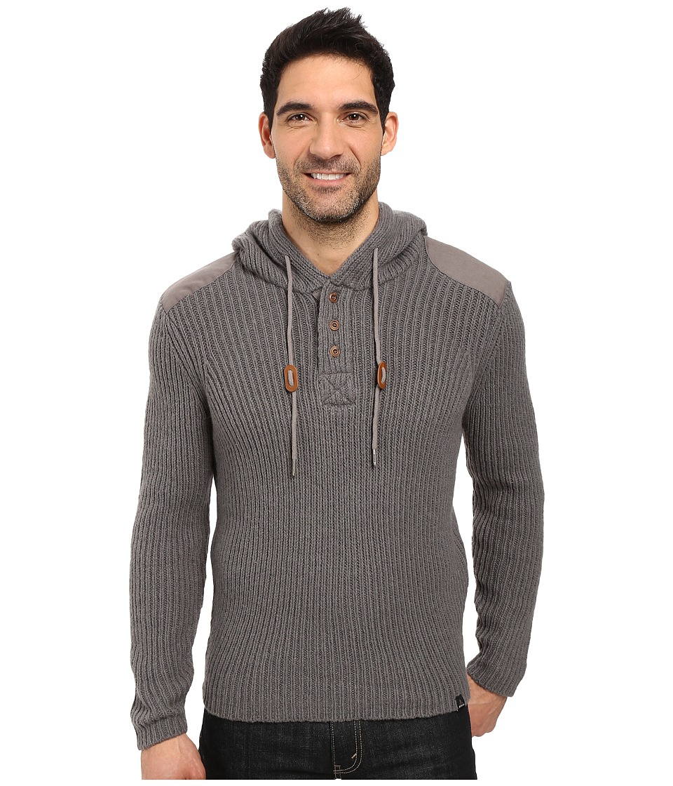 Prana Hooded Henley Sweater (Gravel) Men