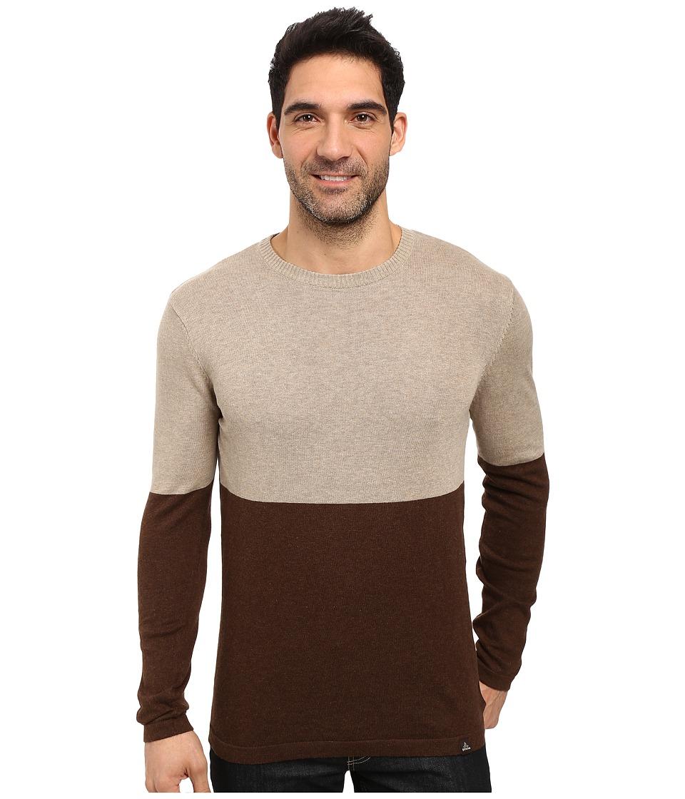 Prana - Color Block Sweater (Brown) Men's Sweater