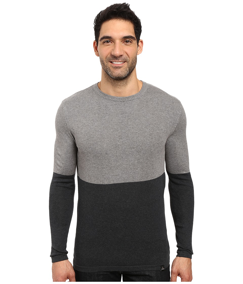 Prana - Color Block Sweater (Charcoal) Men's Sweater