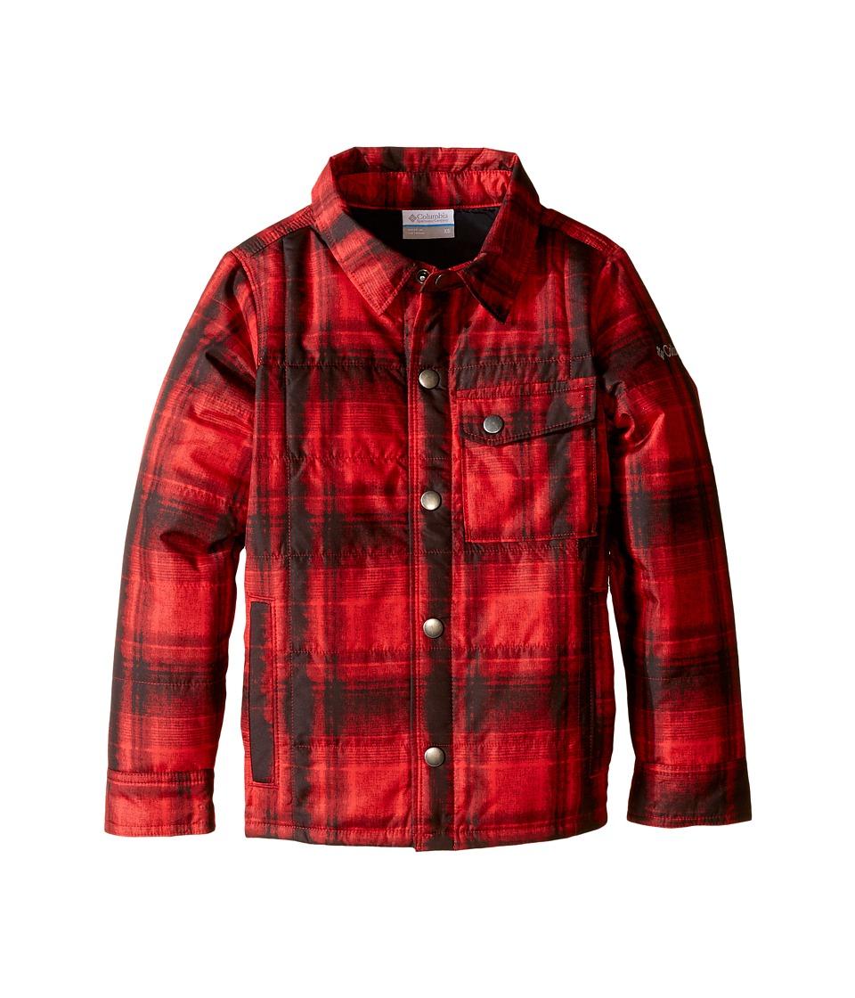 Columbia Kids - Agent Avalanche Jacket (Little Kids/Big Kids) (Mountain Red Plaid) Boy's Coat