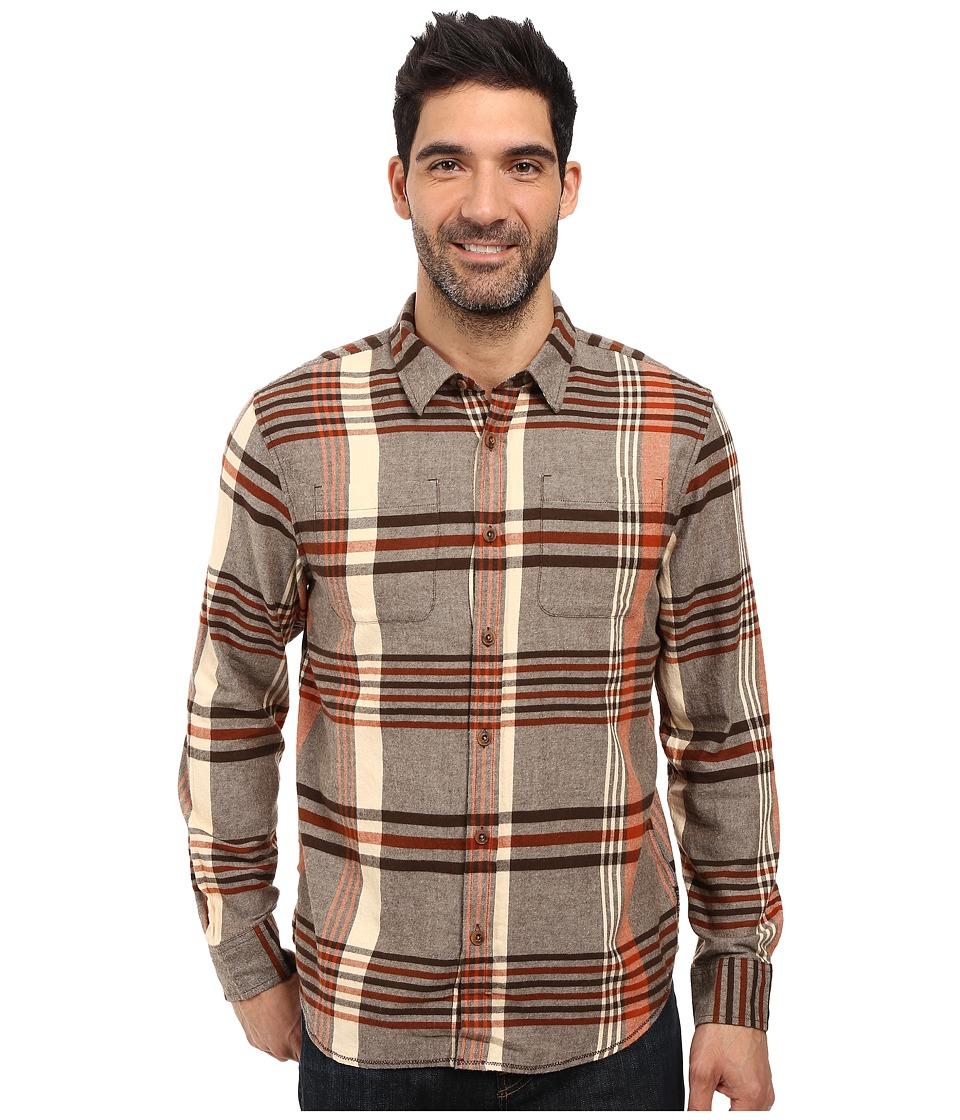 Prana - Delaney Flannel (Brown) Men's Clothing