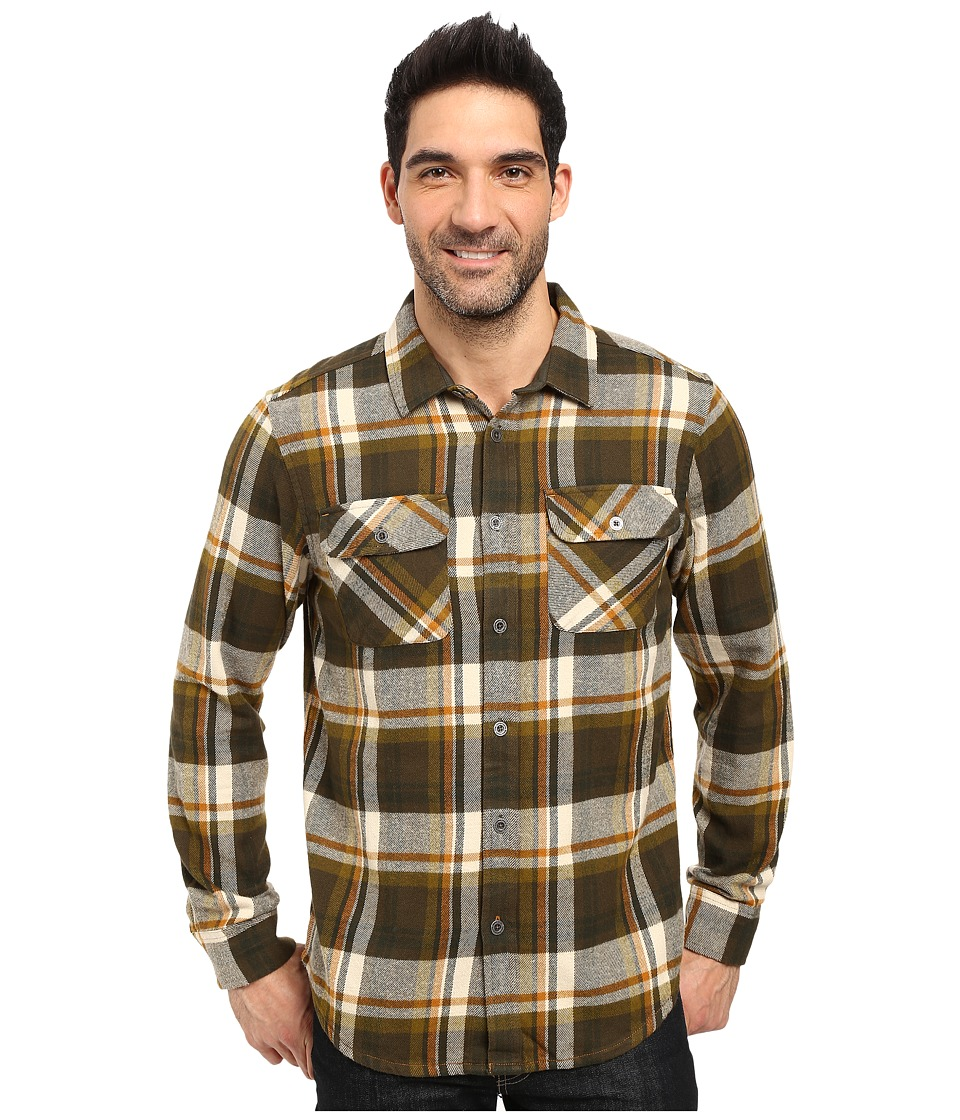 Prana - Lybeck L/S Flannel (Cargo Green) Men's Long Sleeve Button Up
