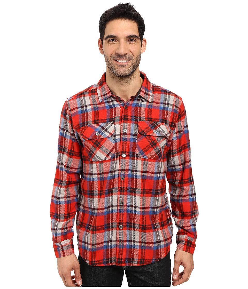 Prana - Lybeck L/S Flannel (Fireball) Men's Long Sleeve Button Up