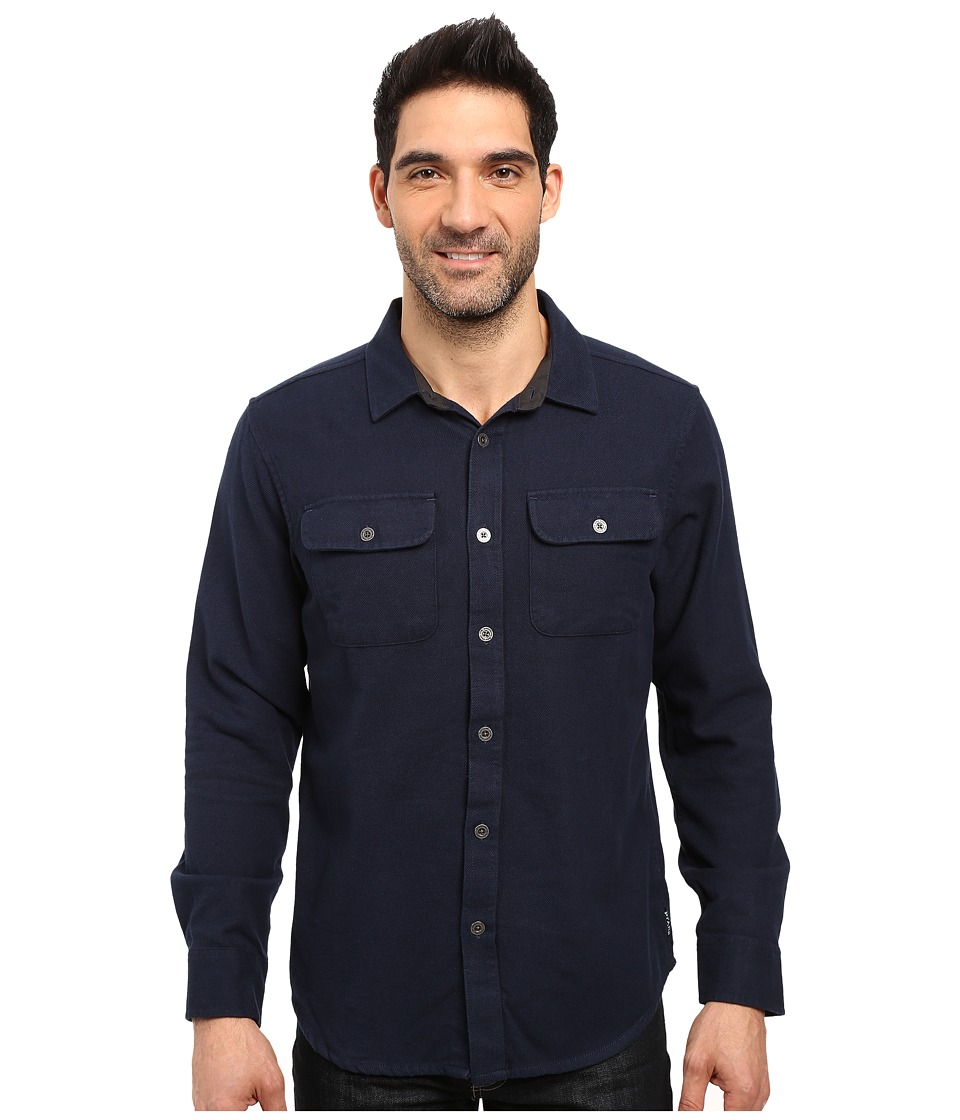 Prana - Lybeck L/S Flannel (Nautical) Men's Long Sleeve Button Up