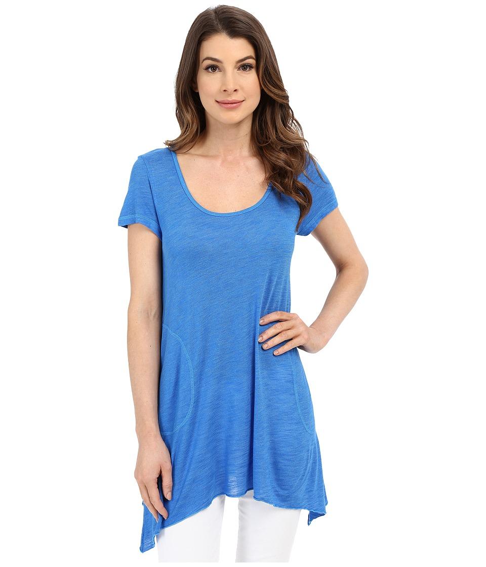 Allen Allen - S/S Slub Tunic (Blue Astor) Women's Blouse