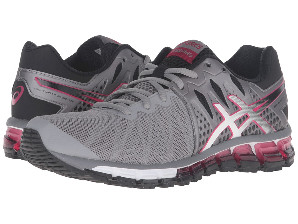ASICS - Gel-Quantum 180 TR (Aluminum/White/Cerise) Women's Cross Training Shoes
