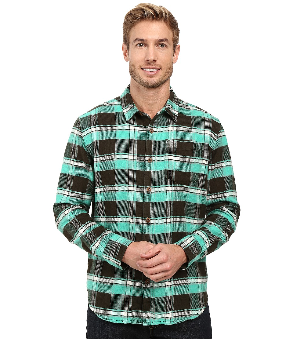 Prana - Channing Flannel (Dark Olive) Men's Clothing