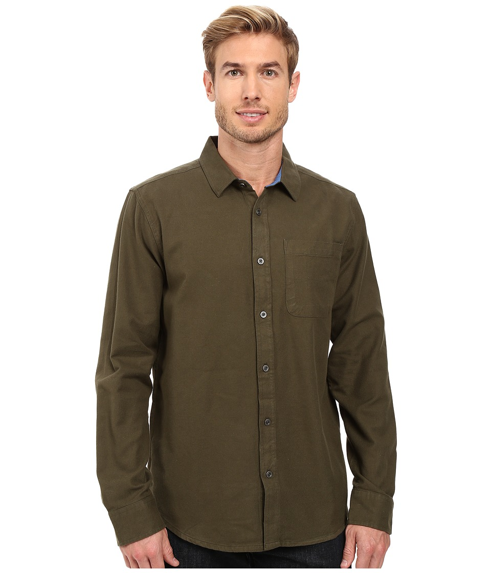 Prana - Woodman Long Sleeve Shirt (Cargo Green) Men's Long Sleeve Button Up