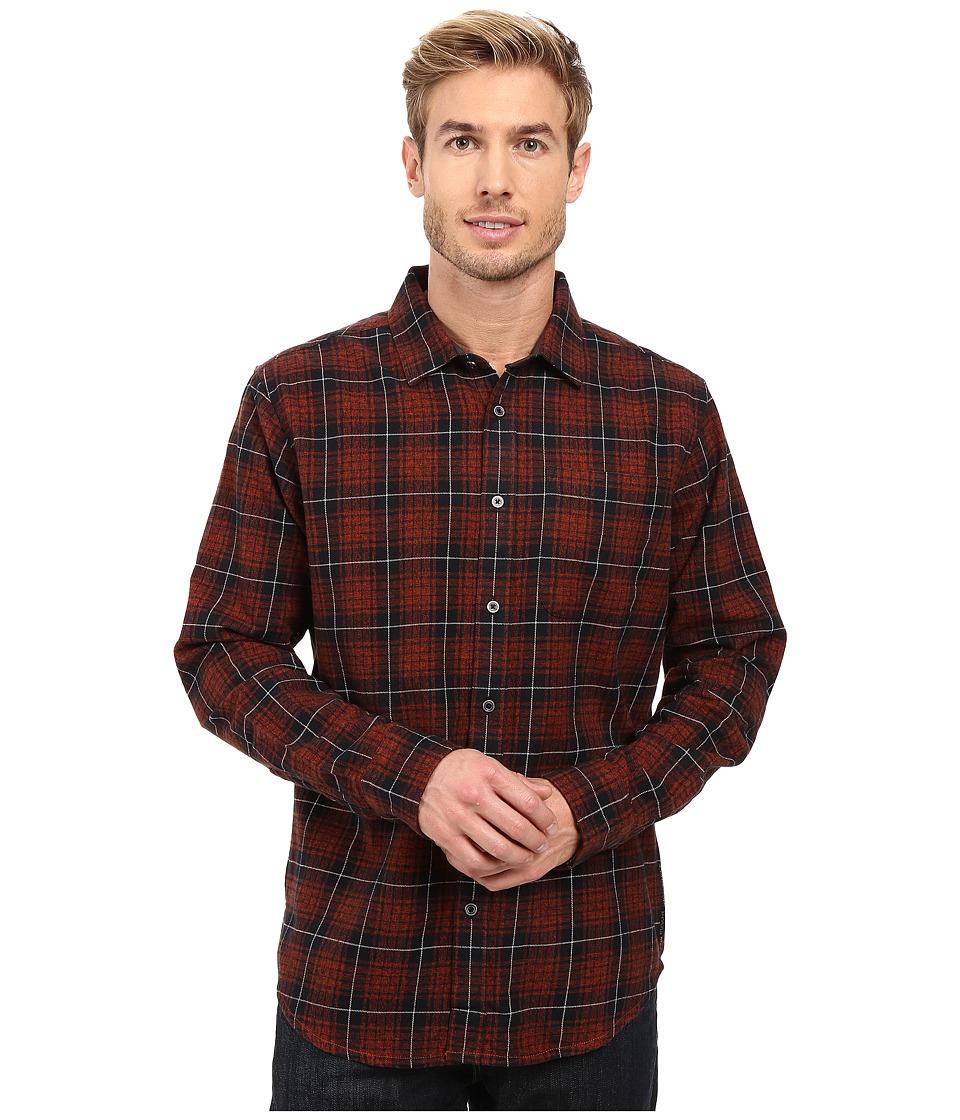 Prana - Woodman Long Sleeve Shirt (Rust) Men's Long Sleeve Button Up