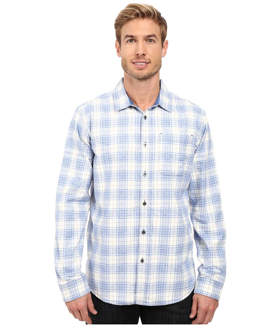 Prana - Woodman Long Sleeve Shirt (Vintage Cobalt) Men's Long Sleeve Button Up