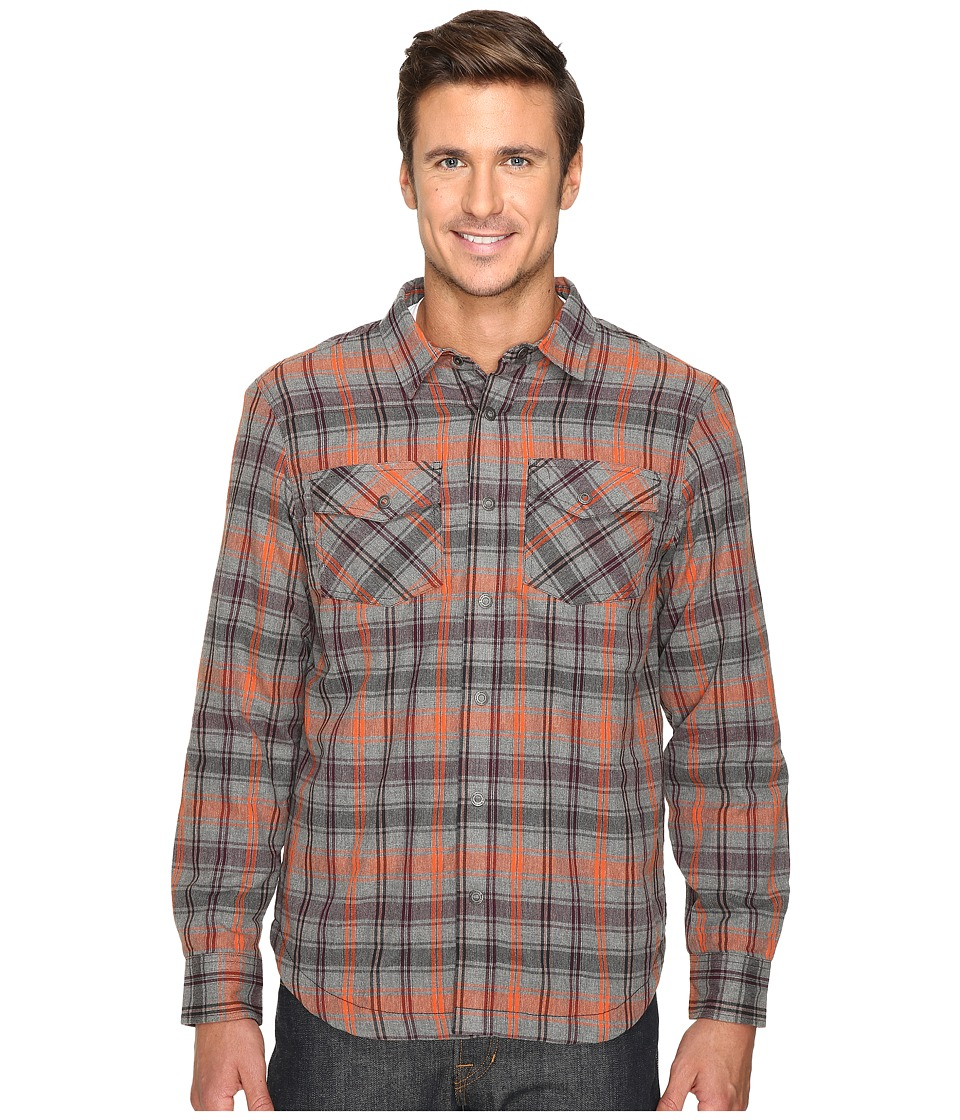 Prana - Asylum Flannel (Fireball) Men's Long Sleeve Button Up