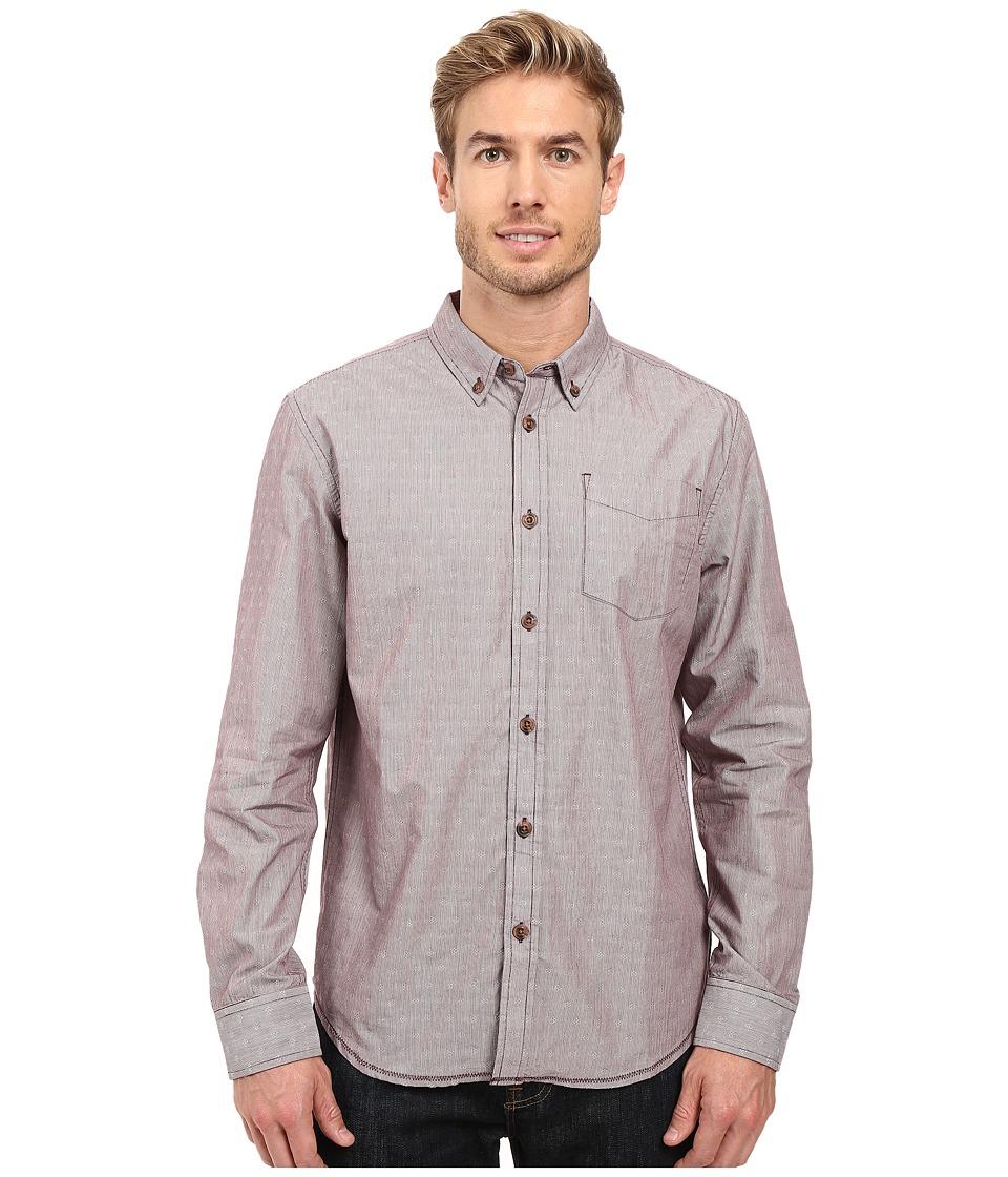 Prana Reinhold Shirt (Eggplant) Men