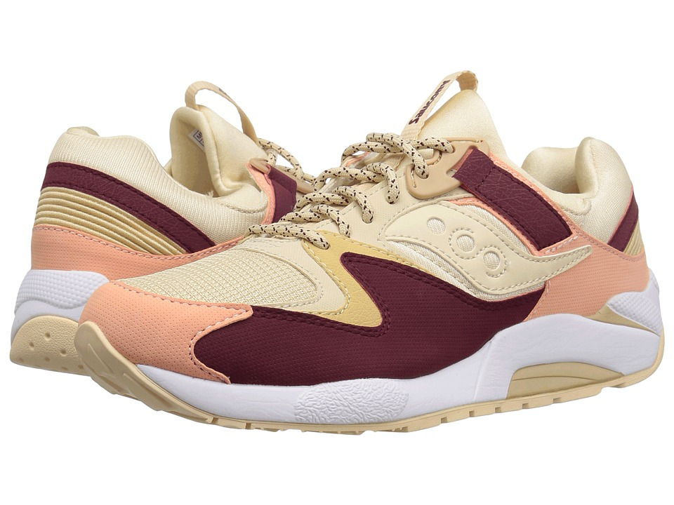 Saucony Originals - Grid 9000 (Cream/Red/Pink) Men's Classic Shoes