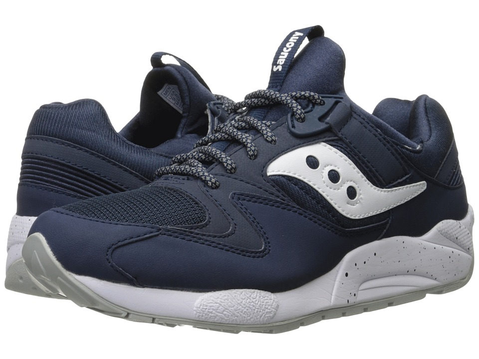 Saucony Originals - Grid 9000 (Navy/White) Men's Classic Shoes