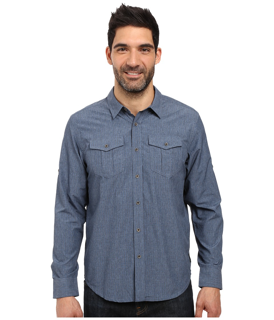 Prana - Ascension (Sapphire) Men's Long Sleeve Button Up