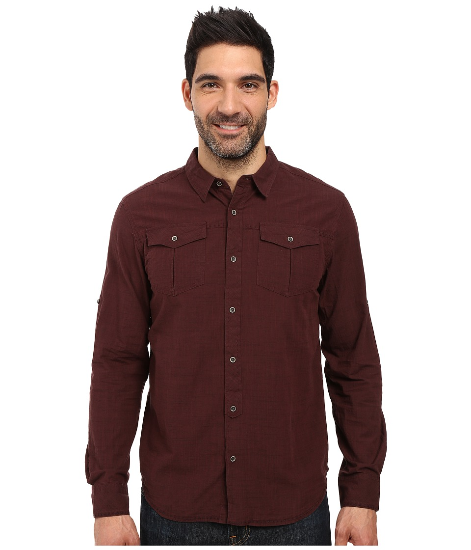 Prana - Rollin Shirt (Dark Umber) Men's Short Sleeve Button Up