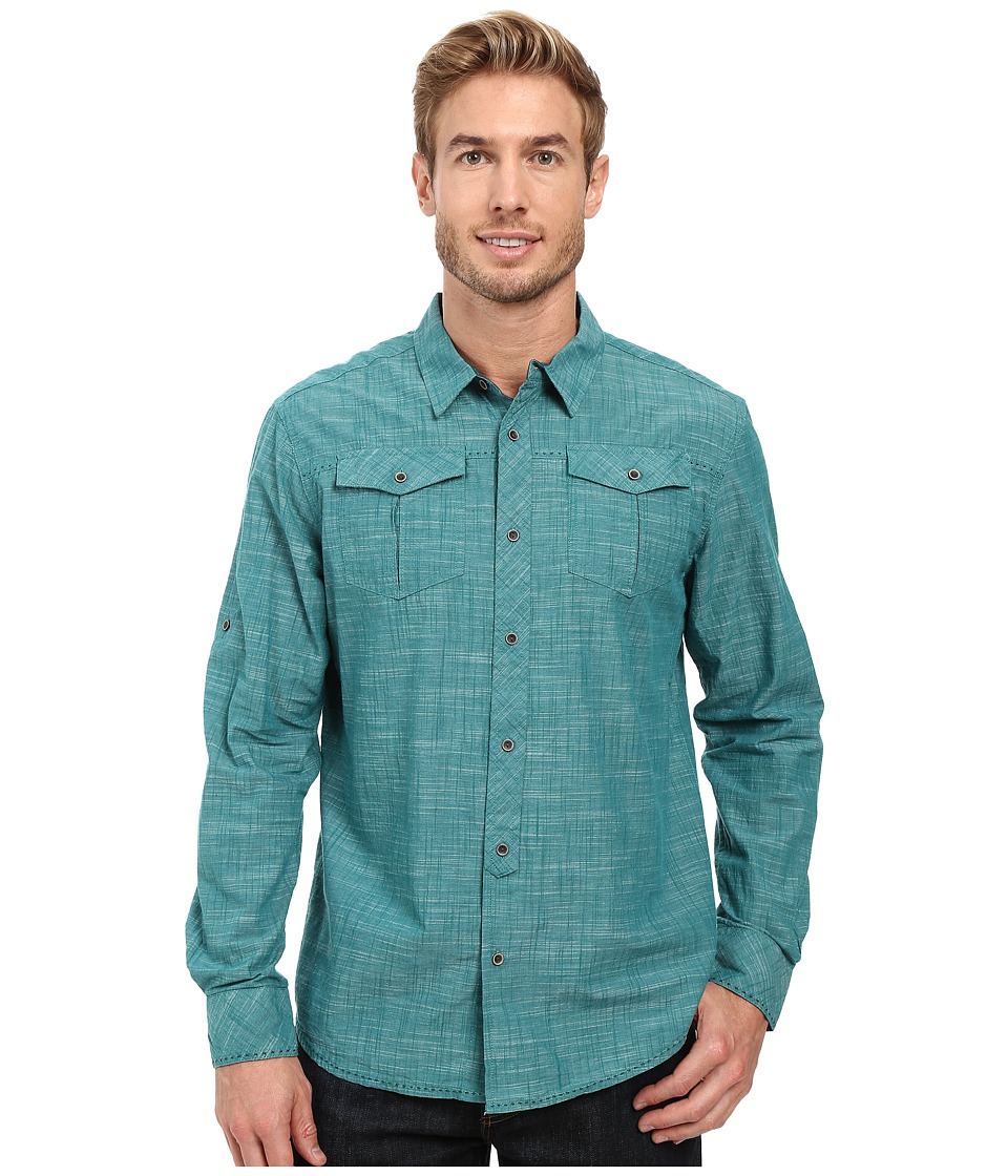 Prana - Rollin Shirt (Harbor Blue) Men's Short Sleeve Button Up