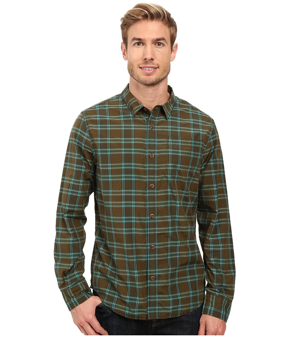 Prana - Yearby Slim Shirt (Deep Teal) Men's Clothing