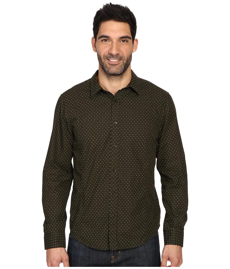 Prana - Lukas Shirt (Dark Olive) Men's Long Sleeve Button Up