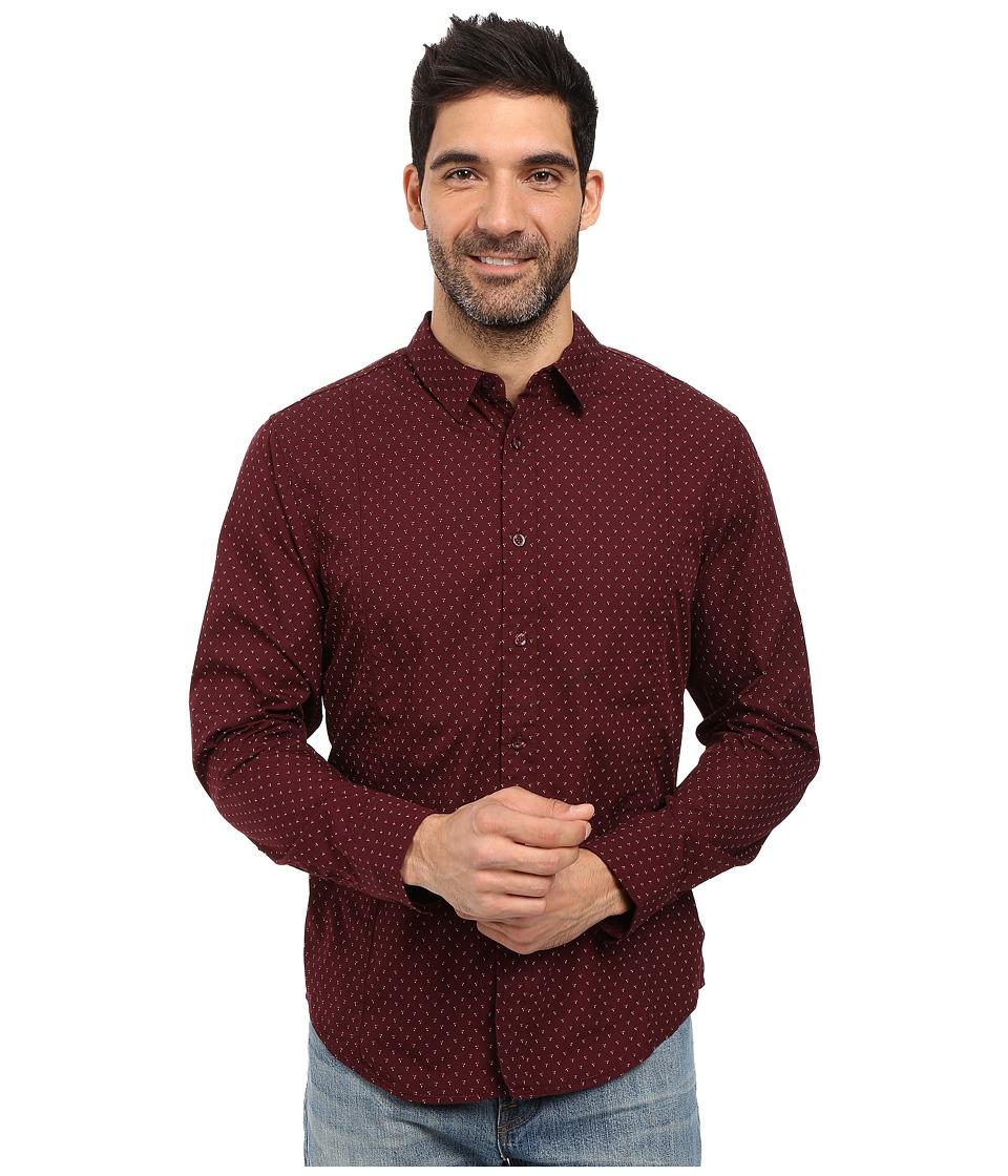 Prana - Lukas Shirt (Eggplant) Men's Long Sleeve Button Up