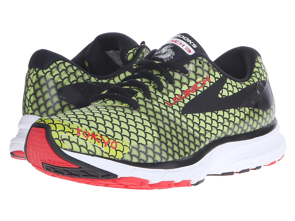 Brooks - Launch 3 (Lime Punch/Black/High Risk Red) Women's Running Shoes