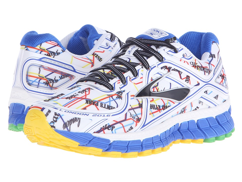 Brooks - Adrenaline GTS 16 (Electric Blue/High Risk Red/Black/Cyber Yellow) Women's Running Shoes