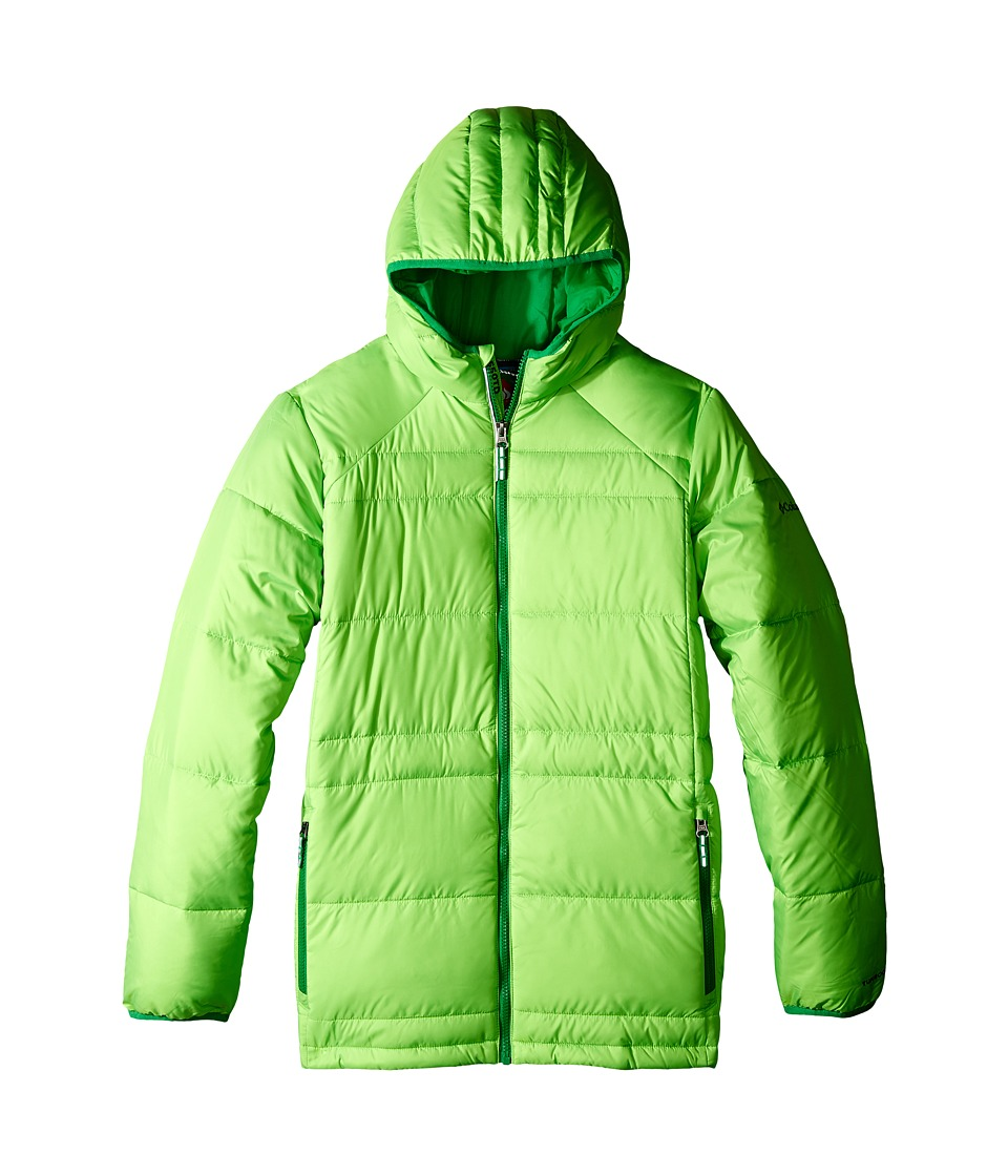 Columbia Kids - Gold 550 Turbodown Hooded Jacket (Little Kids/Big Kids) (Green Mamba/Fuse Green) Boy's Jacket