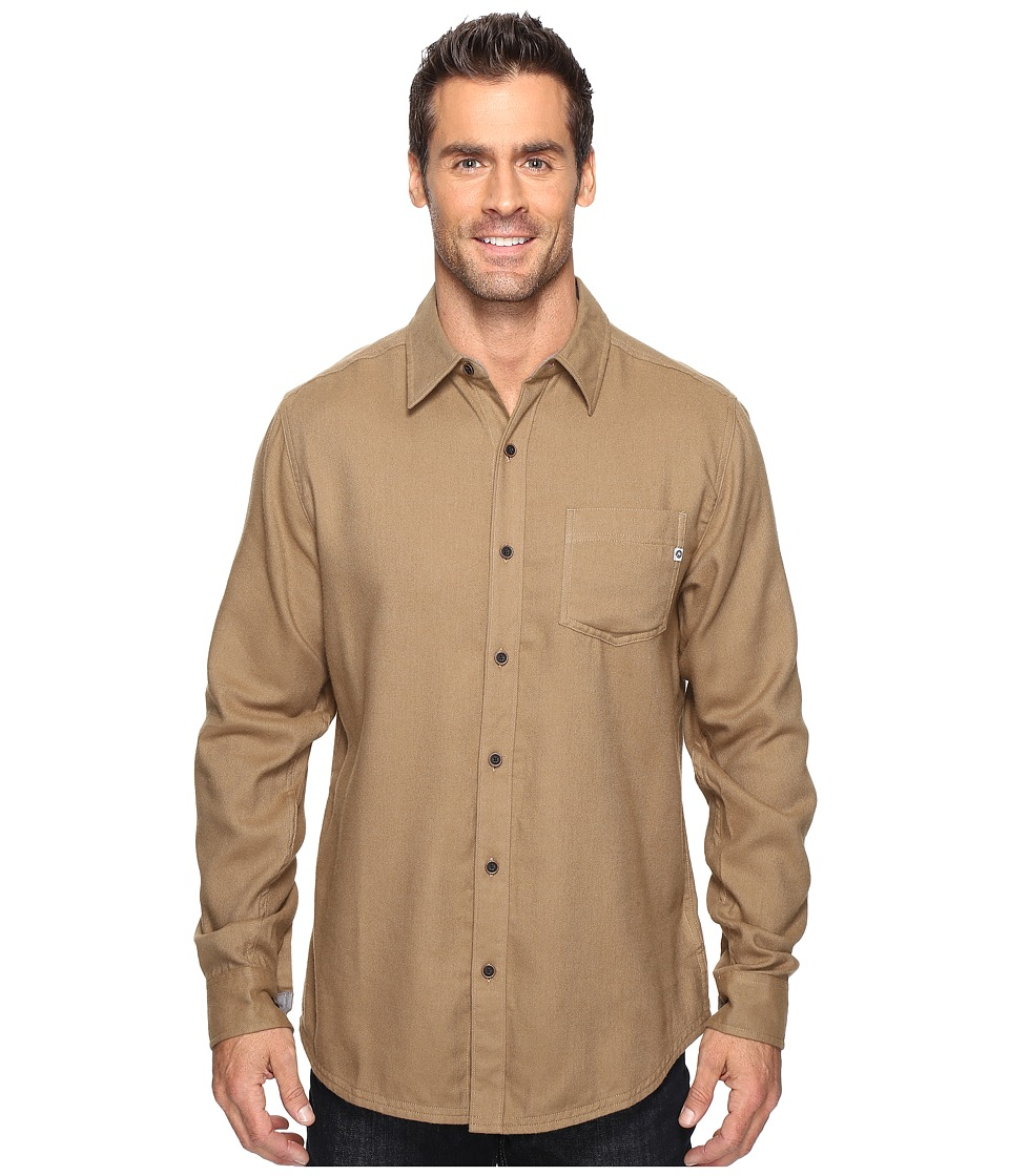 Marmot - Hobson Flannel Long Sleeve Shirt (Desert Khaki Heather) Men's Long Sleeve Button Up