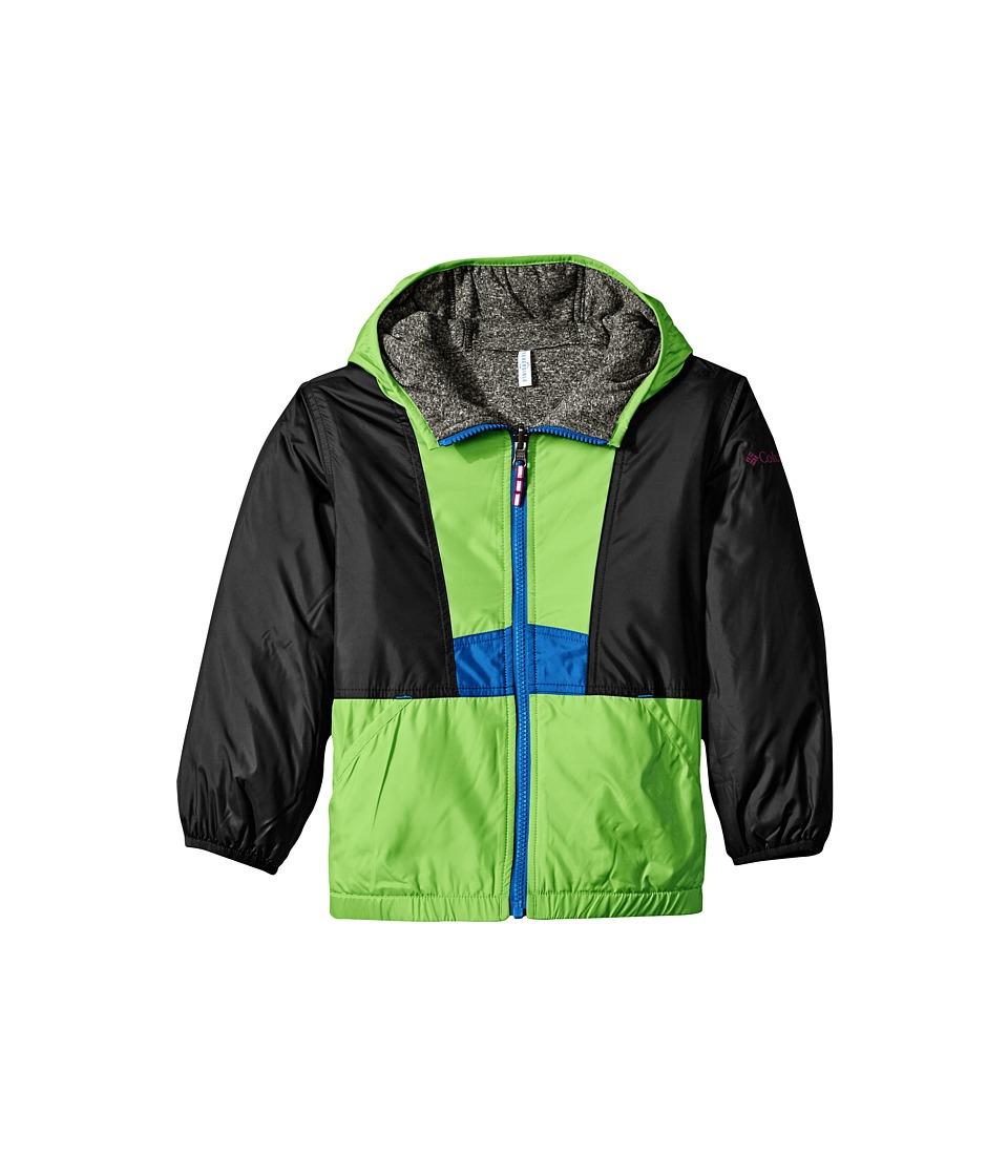 Columbia Kids - Flashback Insulated Jacket (Little Kids/Big Kids) (Green Mamba/Black Heather/Super Blue) Boy's Coat