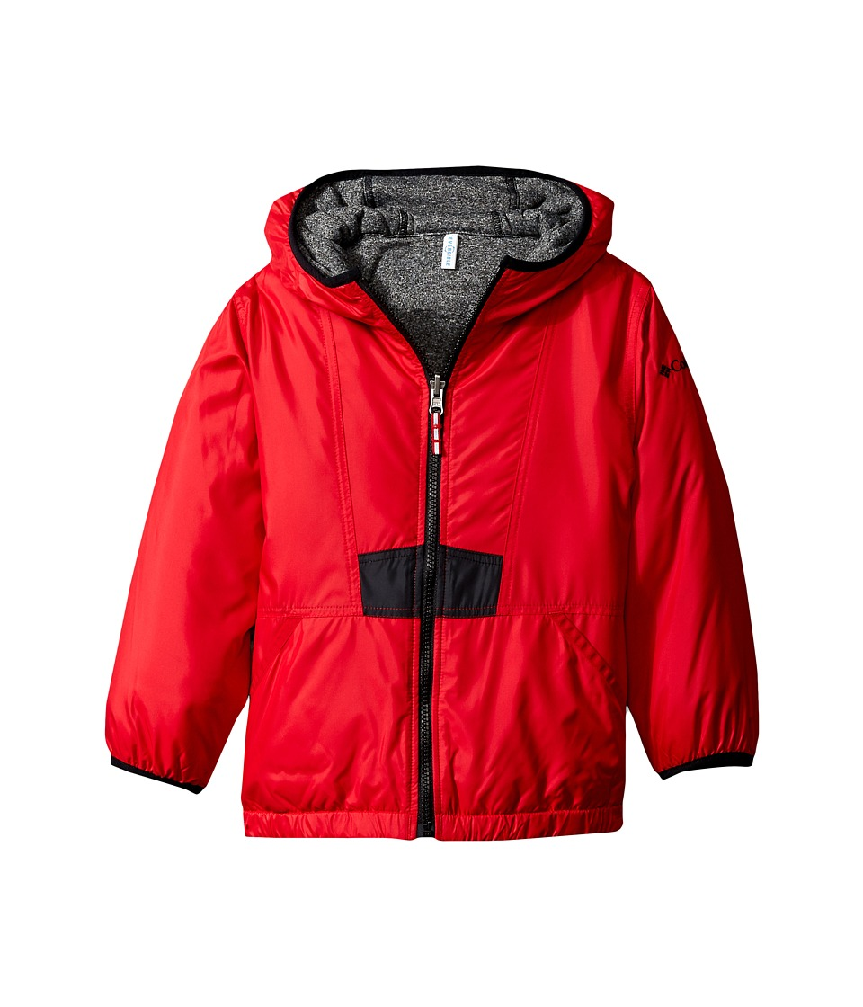 Columbia Kids - Flashback Insulated Jacket (Little Kids/Big Kids) (Mountain Red/Black Heather/Grey Ash) Boy's Coat
