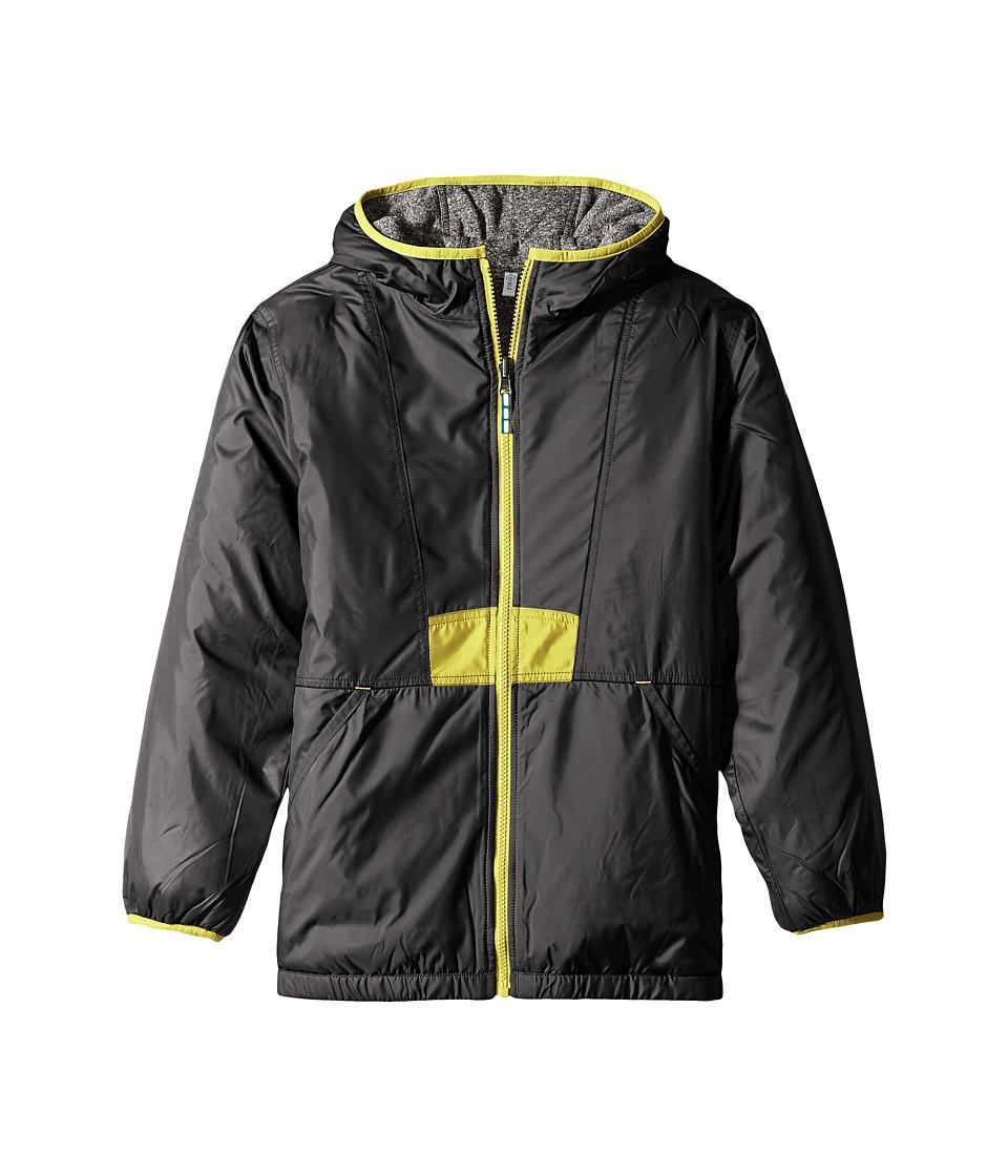 Columbia Kids - Flashback Insulated Jacket (Little Kids/Big Kids) (Black/Grey Ash Heather/Mineral Yellow) Boy's Coat