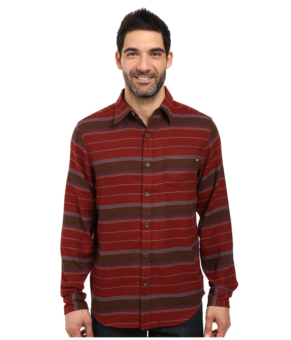 Marmot - Enfield Flannel Long Sleeve Shirt (Marsala Brown Heather) Men's Clothing